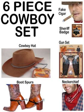 10% SAVING - Cowboy Fancy Dress Ultimate 6 Piece Set
