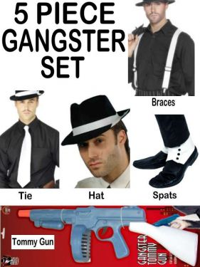10% SAVING - Gangster Fancy Dress Ultimate 5 Piece Set