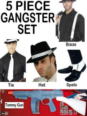 10% SAVING - Gangster Fancy Dress Ultimate 5 Piece Set