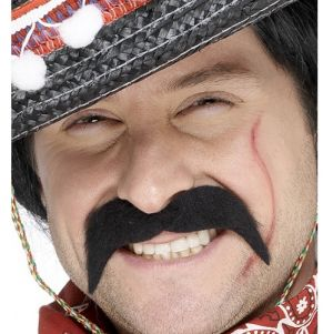 Mexican Bandit Fancy Dress Tash - Black