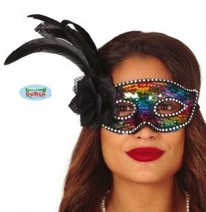 Multi Sequin Masquerade Ball Mask