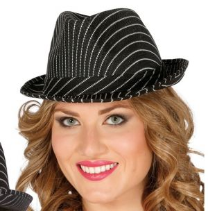 Striped Trilby Hat