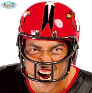 Adult American Football Fancy Dress Helmet - Red
