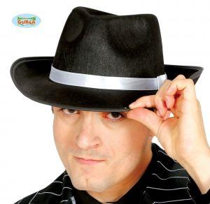 Black/White Gangster Hat
