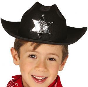 Childs Black Sheriff Hat