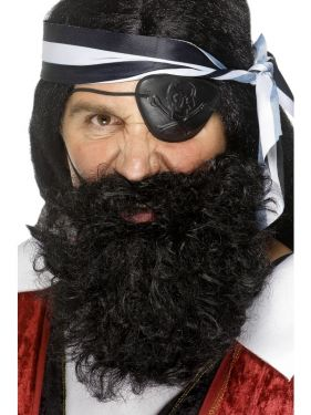 Pirate Fancy Dress Beard - Black