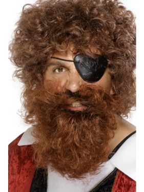 Pirate Fancy Dress Beard - Brown