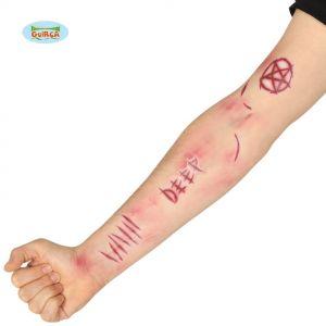 Halloween Demon Scar Tattoos