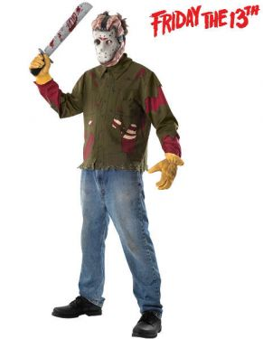 Friday 13th Jason Voorhees Costume - Sizes Std M & XL