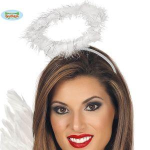 Angel Halo on Headband White