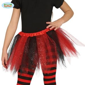 Childs Girls Tutu Black/Red