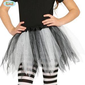 Childs Fancy Dress Tutu in Black/White