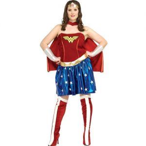 Ladies Wonder Woman Costume with Cape - Plus 14-16