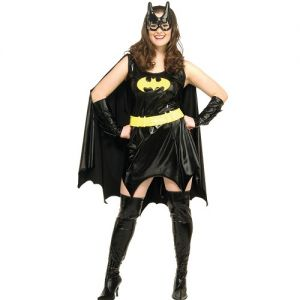 Sexy Batgirl Costume with Cape - Plus Size