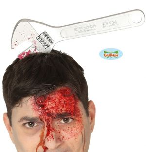 Halloween Wrench Spanner in the Head