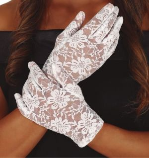 Ladies White Lace Gloves