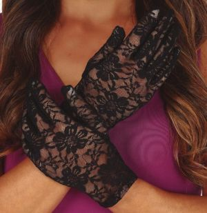 Ladies Long Black Gloves