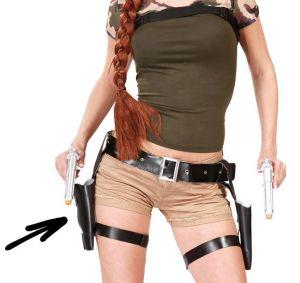 Tomb Lady Double Gun, Holster & Belt Set