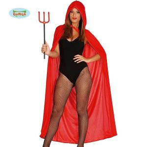 Adult Long Hooded Cape in Red