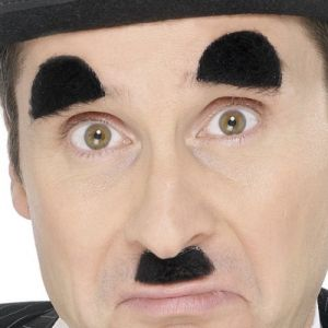 Chaplin Fancy Dress Tash & Eyebrows - Black