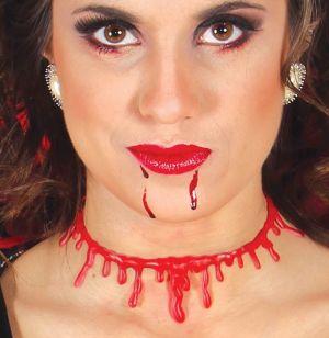 Halloween Cut Throat Scar Necklace