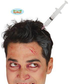 Halloween Syringe in the Head