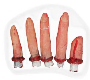 Halloween Pack of 5 Gory Fingers
