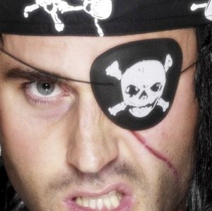 Pirate Eye Patch with Skull & Crossbones