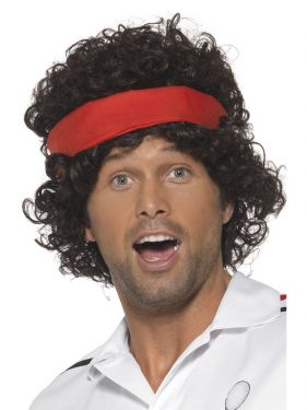 80's Fancy Dress Tennis Player McEnroe Wig