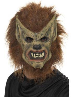 Halloween Fancy Dress - Werewolf Mask - brown