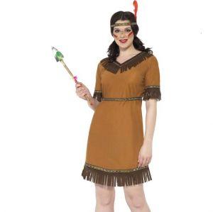 Ladies Indian Maiden Fancy Dress Costume