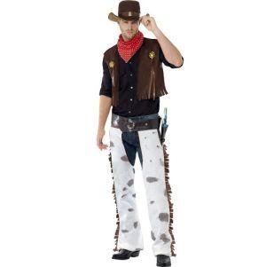 Mens Cowboy Fancy Dress Costume - M & L