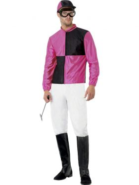 Mens Jockey Fancy Dress Costume - M or L