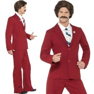 70s Fancy Dress Ron Burgundy Anchorman Fancy Dress Costume