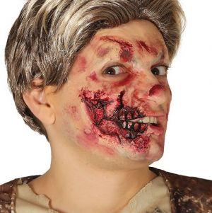 Halloween Horror Latex Jaw Wound