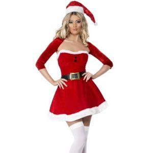 Christmas Ladies Fever Santa Babe Costume