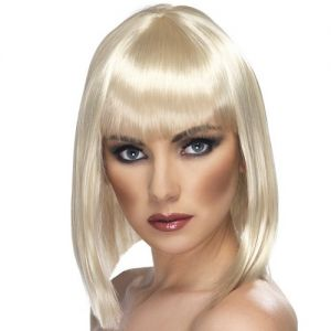 80's Glam Wig with Fringe - Blonde