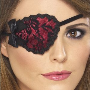 Ladies Lace Pirate Eye Patch