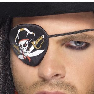 Pirate Eye Patch with coloured Skull