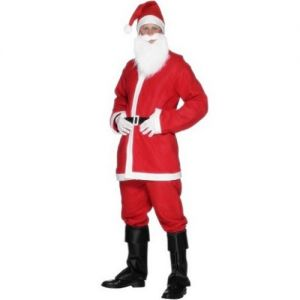 Mens Christmas Budget Santa Costume - M & L