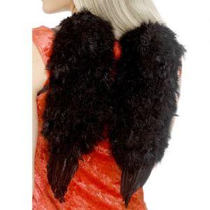 Fancy Dress Feathered Angel Wings - Black