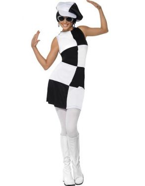 60s Party Girl Fancy Dress Costume