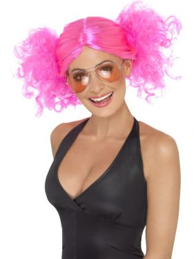 80s Fancy Dress Bunches Wig