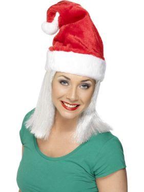 Christmas Fancy Dress Luxury Santa Hat - Red