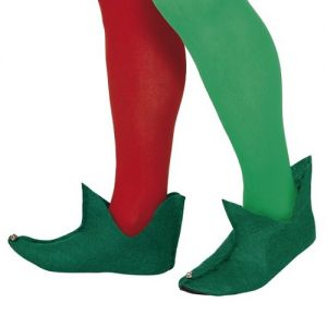 Christmas Fancy Dress - Elf Boots - Fabric - One Size