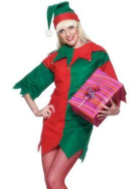 Christmas Fancy Dress - Ladies Santa's Elf Costume