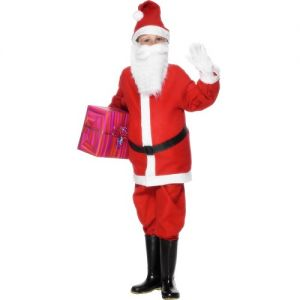 Christmas Fancy Dress - Childrens Santa Costume - S, M or L