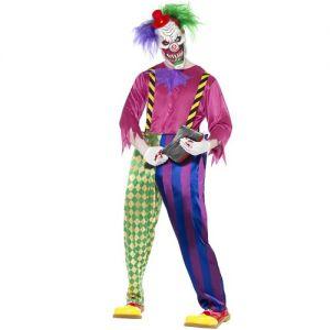 Halloween Fancy Dress KIller Clown Costume - Medium or Large