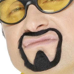 Herb Warrior Fancy Dress Beard - Ali G - Black