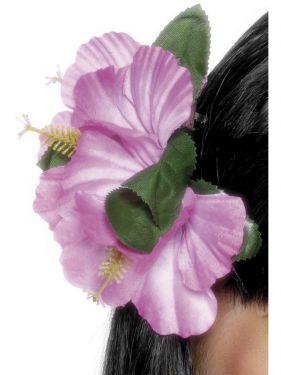 Hawaiian Fancy Dress Flower Hairclip - Pink